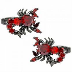 Boutons de Manchette Scorpion Rouge