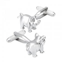 Boutons de Manchette Cochon Porte-Bonheur