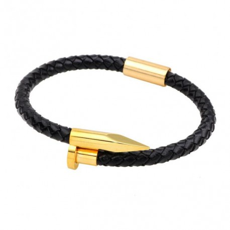 Bracelet  Eternity Cuir et Titane