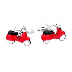 Boutons de Manchette Scooter Rouge
