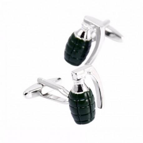 Boutons de Manchette Armée Grenade