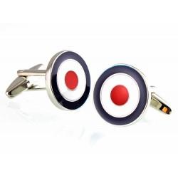 Boutons de Manchette Cocarde Tricolore Bleu Blanc Rouge