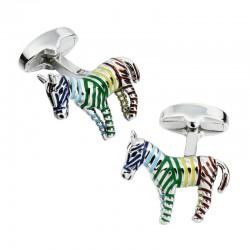 Boutons  de Manchette Zèbre Multicolore