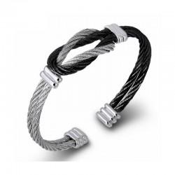 Bracelet Homme Cable Acier Twister