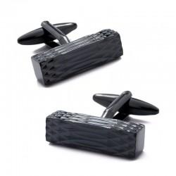Boutons de Manchette Design Black Métal