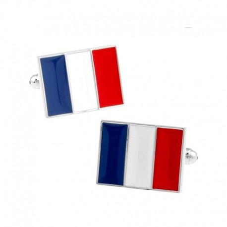 Boutons de Manchette Drapeau Français