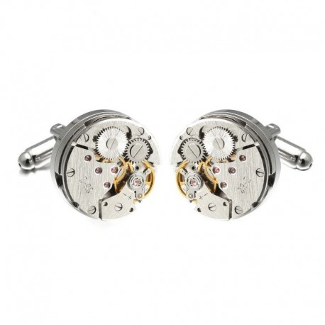 Boutons de Manchette Engrenage Silver