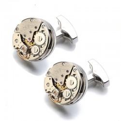 Boutons de Manchette Horloge Mécanique