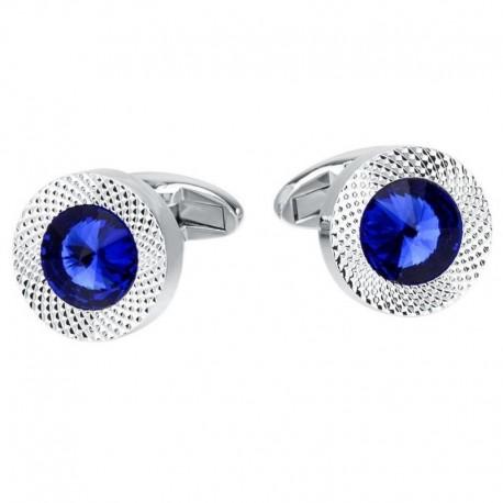 Boutons de Manchette Cristal Bleu Royal