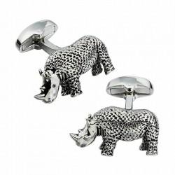 Boutons de Manchette Rhinocéros